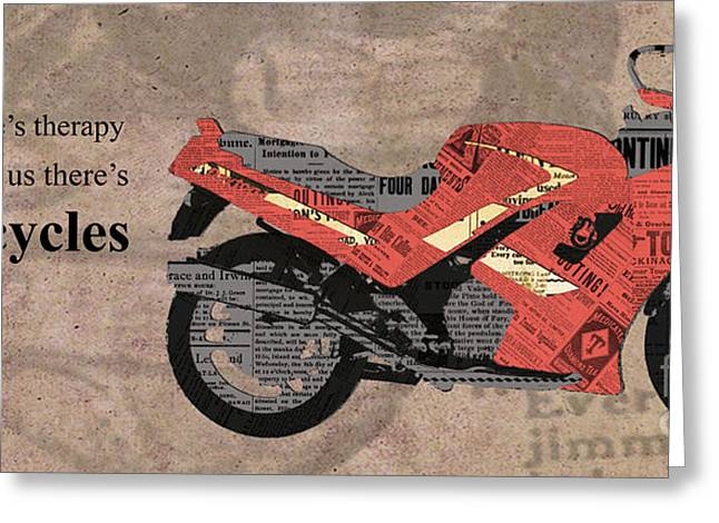 Triumph Daytona 1000 1992 Collage - Motorcycles Quote Greeting Card by Pablo Franchi