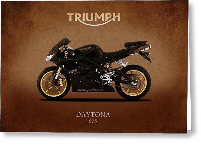 Triumph Daytona 675 Greeting Card by Mark Rogan