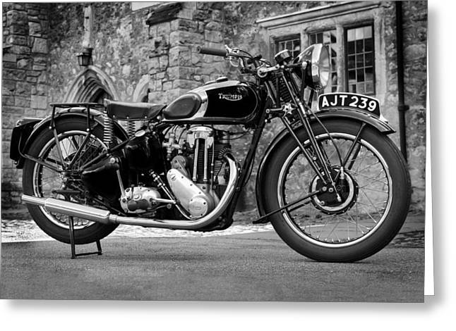 Motor Greeting Cards - Triumph De Luxe 1939 Greeting Card by Mark Rogan