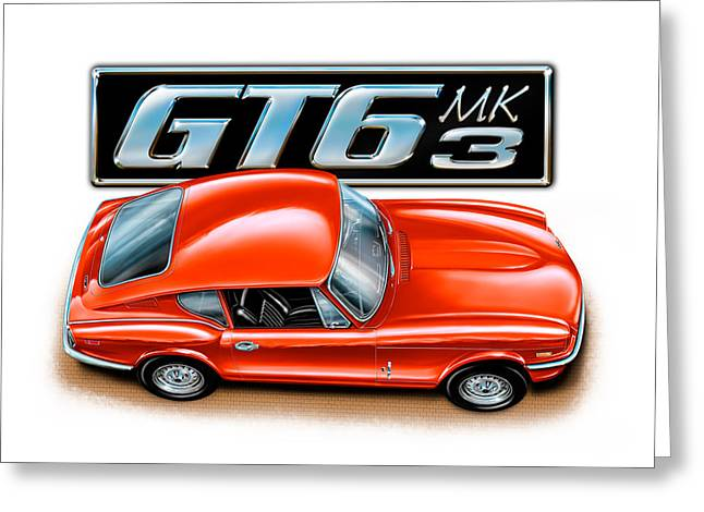 English Car Greeting Cards - Triumph GT-6 Mark 3 Red Greeting Card by David Kyte