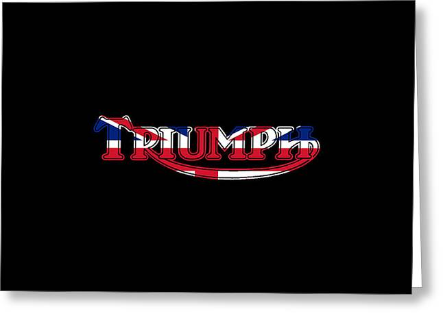 Thunderbird Greeting Cards - Triumph Logo Phone Case Greeting Card by Mark Rogan