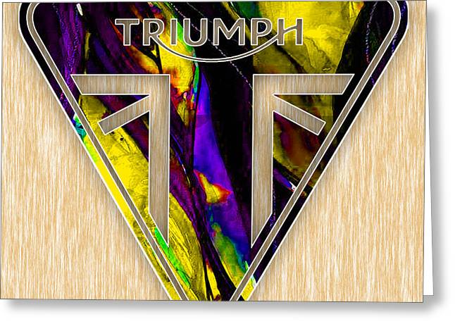 Bike Greeting Cards - Triumph Motorcycles Greeting Card by Marvin Blaine