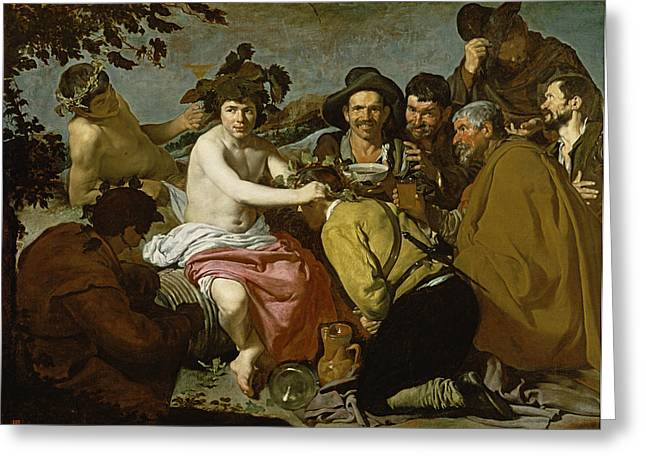 Bacchus Greeting Cards - Triumph Of Bacchus, 1628 Oil On Canvas Greeting Card by Diego Rodriguez de Silva y Velazquez