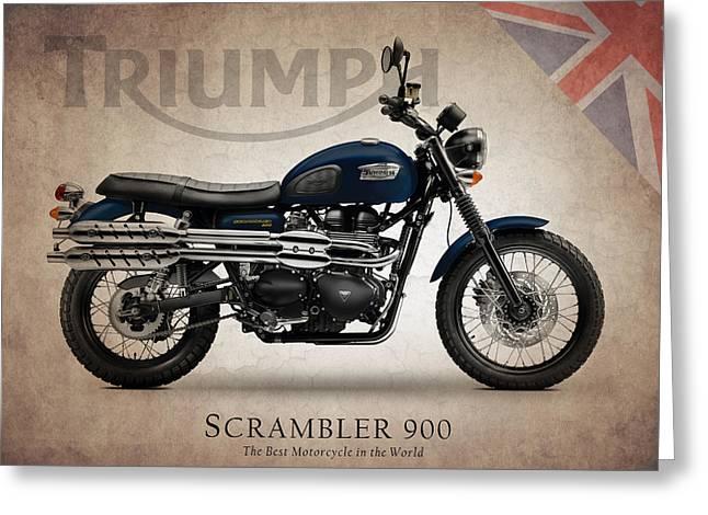 Triumphing Greeting Cards - Triumph Scrambler 900 Greeting Card by Mark Rogan