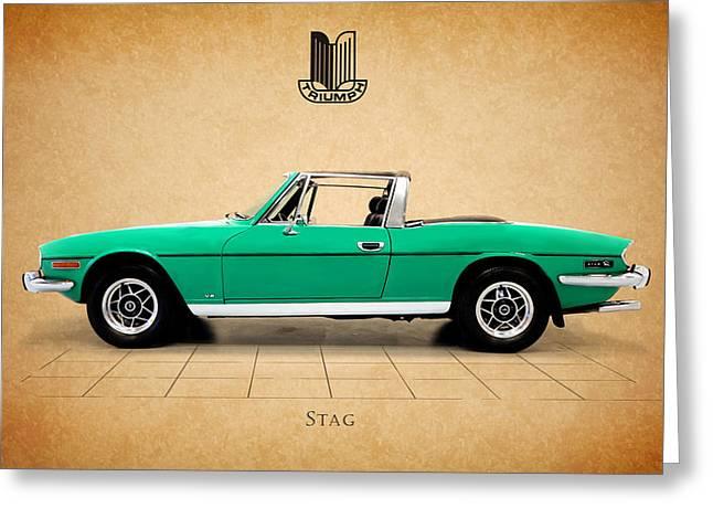 British Car Greeting Cards - Triumph Stag Greeting Card by Mark Rogan