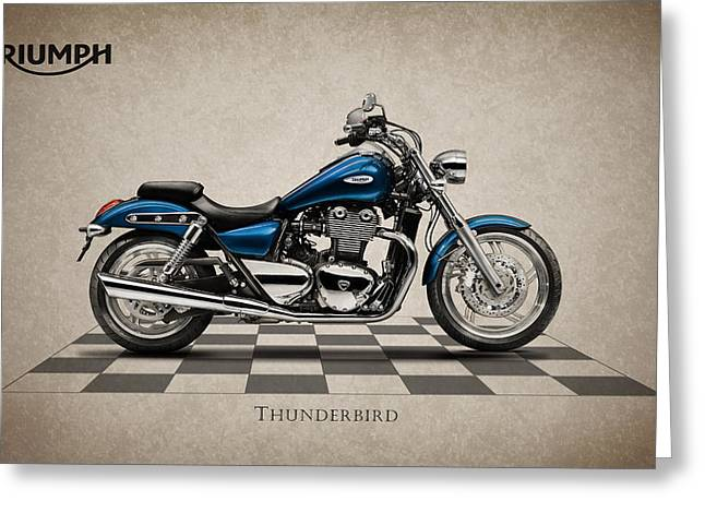 Thunderbird Greeting Cards - Triumph Thunderbird Greeting Card by Mark Rogan
