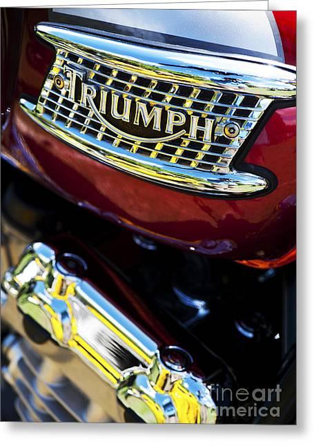 British Culture Greeting Cards - Triumph Thunderbird  Greeting Card by Tim Gainey