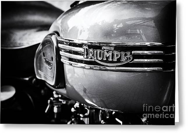 Tim Greeting Cards - Triumph Tiger 110 Motorcycle Greeting Card by Tim Gainey