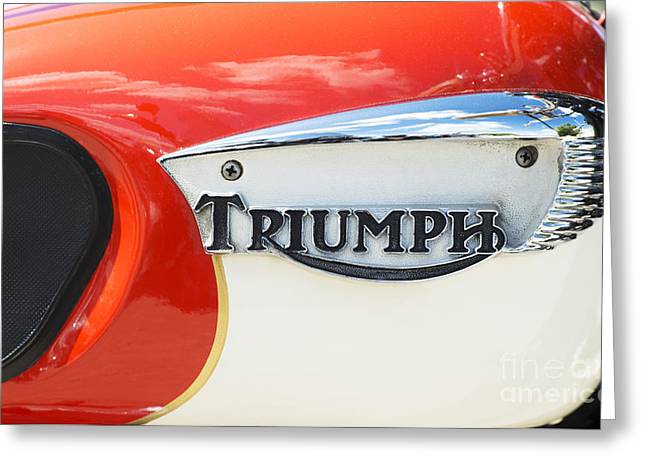Triumph Tiger 90 Tank Badge Greeting Card by Tim Gainey
