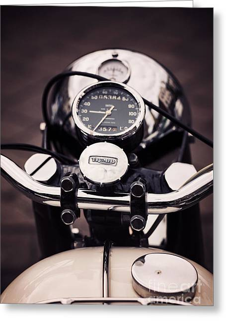 Tim Greeting Cards - Triumph Tiger 90 Greeting Card by Tim Gainey