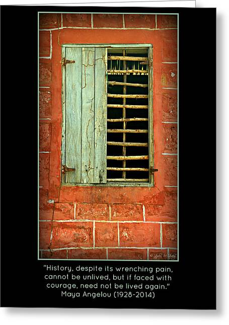 Maya Angelou Greeting Cards - Triumphant Courage -- Inspirational Print Greeting Card by Stephen Stookey