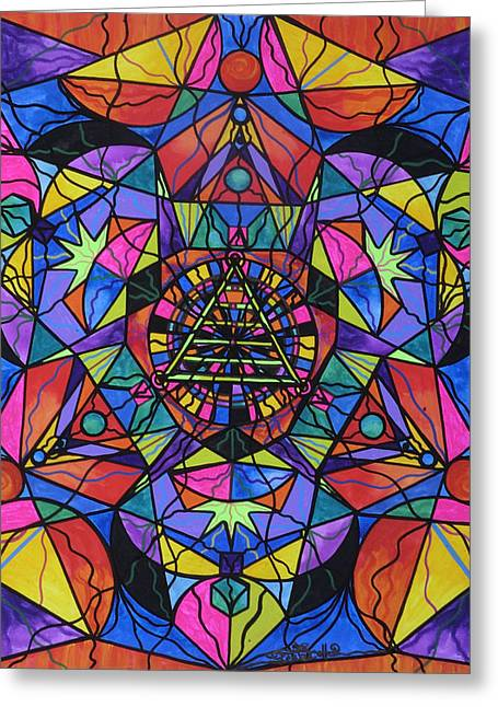 Transformations Paintings Greeting Cards - Triune Transformation Greeting Card by Teal Eye  Print Store