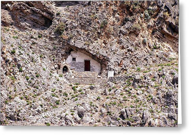 Old House Photographs Greeting Cards - Troglodyte House Greeting Card by Sophie Vigneault