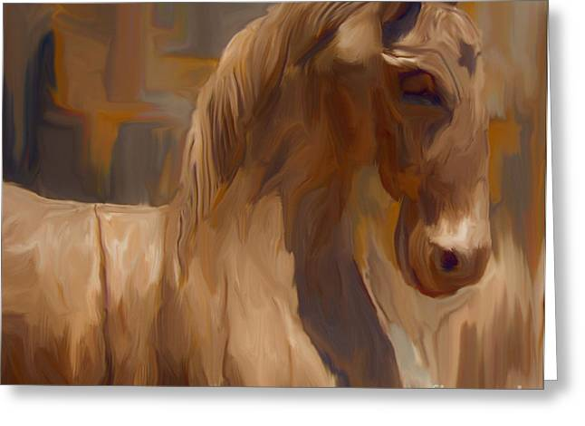 Wooden Sculpture Greeting Cards - Trojan Horse Greeting Card by Ted Guhl