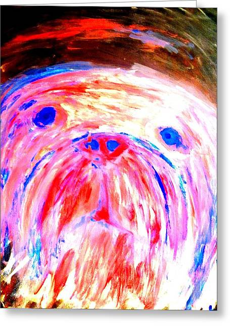 Love Between Dogs Greeting Cards - What A Feeling Greeting Card by Hilde Widerberg
