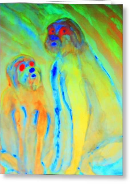 Separation Paintings Greeting Cards - Trolls Are Dangerous Greeting Card by Hilde Widerberg
