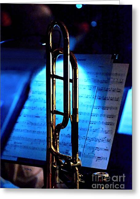 Harmonize Greeting Cards - Trombone Rests Greeting Card by Patrick Witz