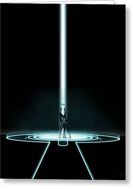Best Sellers -  - Tron Greeting Cards - Tron Portal Greeting Card by Edwin Urena