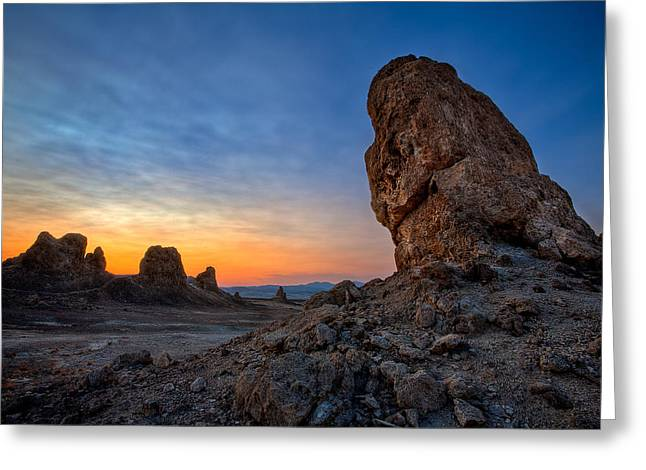Mojave Desert Greeting Cards - Trona Pinnacles Greeting Card by Peter Tellone