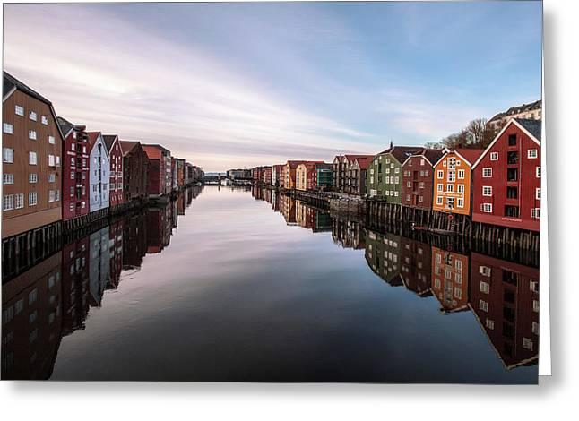 Trondheim, Norway Greeting Card by Par Soderman