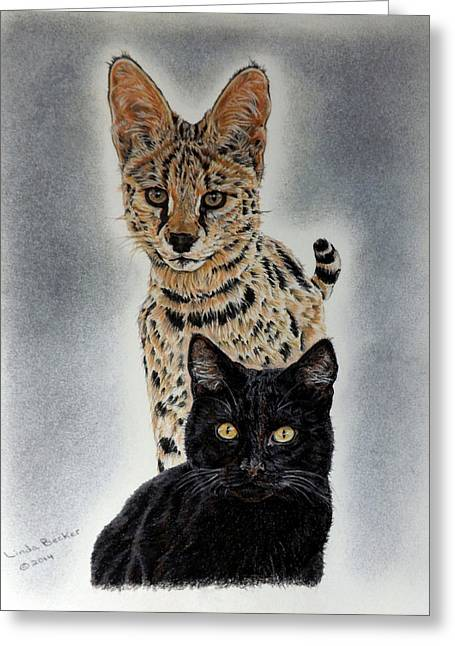 Becker Greeting Cards - Trooper and Mondo Greeting Card by Linda Becker