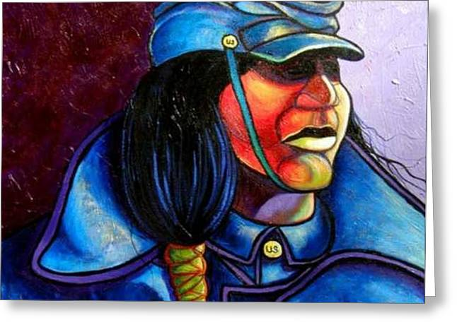 Trooper Crow-Horse Greeting Card by Joe  Triano