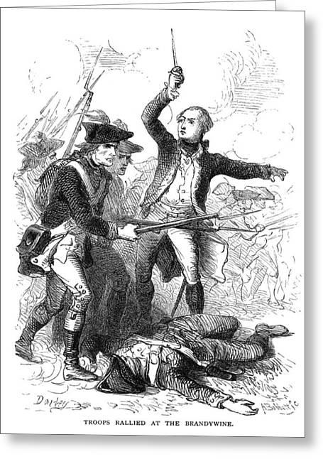 Bayonet Greeting Cards - Troops At Brandywine, 1777 Greeting Card by Granger