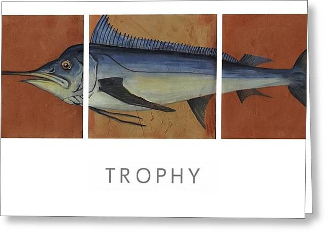 Sports Ceramics Greeting Cards - Trophy Greeting Card by Andrew Drozdowicz