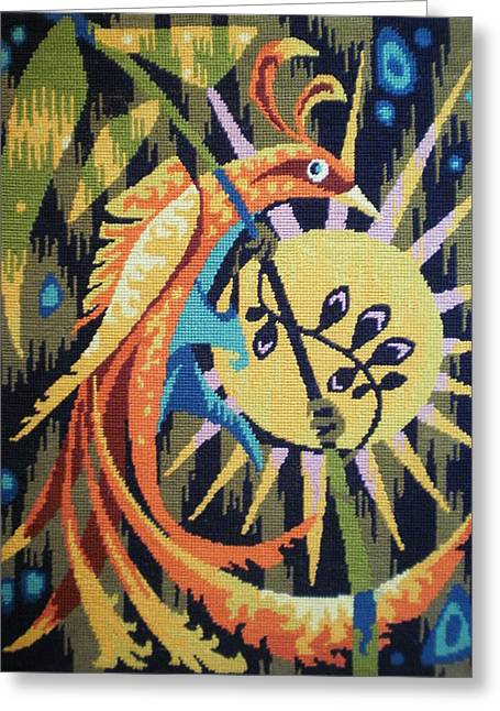 Animal Tapestries - Textiles Greeting Cards - Tropic Bird Tapestries Textiles Greeting Card by Brunet Mario