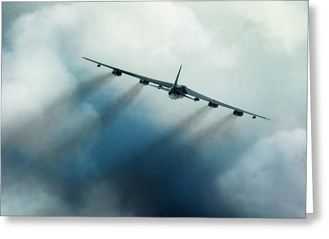 B-52 Greeting Cards - Tropic Fury Greeting Card by Peter Chilelli