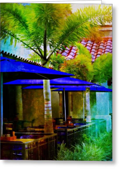 Al Fresco Greeting Cards - Tropical Al Fresco Greeting Card by Barbara Chichester