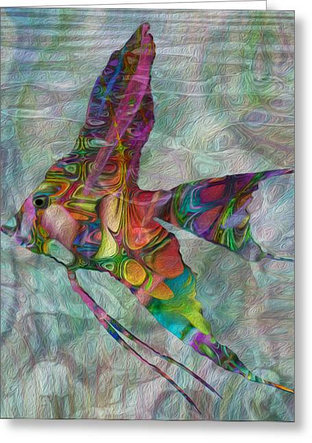 Sea Life Digital Art Greeting Cards - Tropical Angel Greeting Card by Jack Zulli