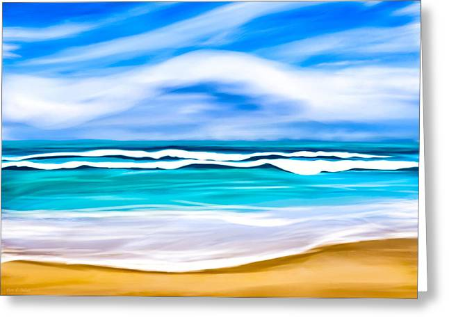 Tropical Beach Dreams - Caribbean Sea Greeting Card by Mark E Tisdale