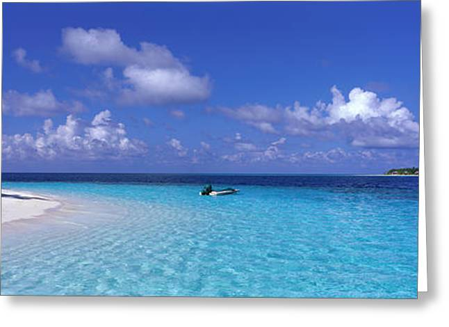 Ocean Landscape Greeting Cards - Tropical Beach Ihru Maldives Greeting Card by Panoramic Images