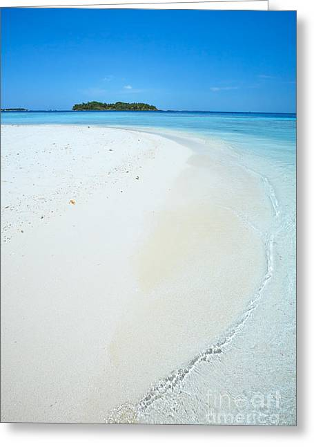 Tropical Beach Greeting Cards - Tropical beach in the Maldives Greeting Card by Matteo Colombo