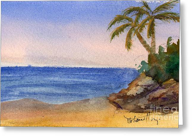 Panoramic Ocean Paintings Greeting Cards - Tropical Beach Greeting Card by Mohamed Hirji