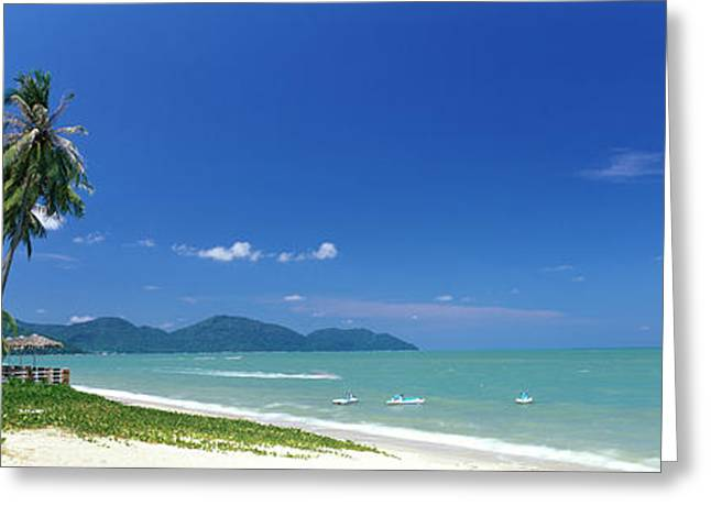 Straits Of Malacca Greeting Cards - Tropical Beach Penang Malaysia Greeting Card by Panoramic Images