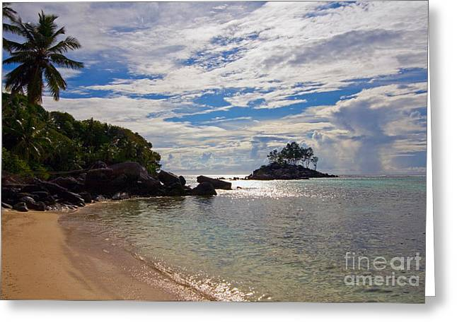 Sel Greeting Cards - Tropical Beach, Seychelles Greeting Card by Tim Holt
