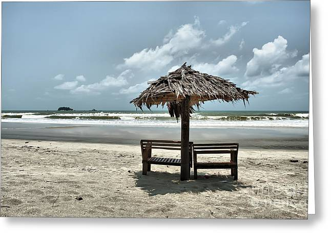 China Beach Greeting Cards - Tropical Beach View Greeting Card by Geir Kristiansen