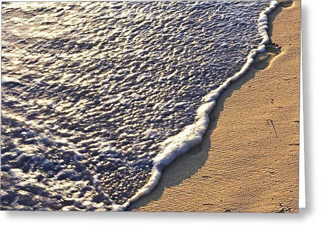 Tropical beach with footprints Greeting Card by Elena Elisseeva