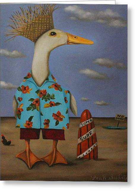 Web Paintings Greeting Cards - Tropical Bird? Greeting Card by Leah Saulnier The Painting Maniac