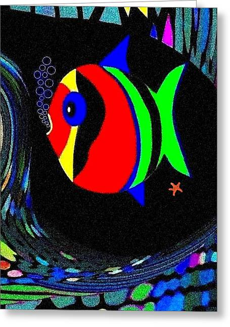 Tropical Cave Fish 2 Greeting Card by Will Borden