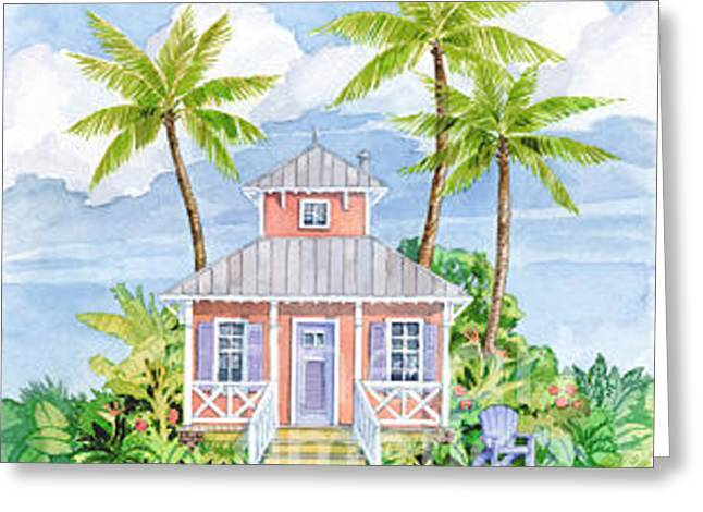 Discovery Greeting Cards - Tropical Cottage I Greeting Card by Paul Brent