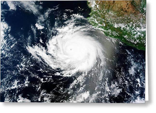 Tropical Cyclone Cristina Greeting Card by Nasa Image Courtesy Of The Lance/eosdis Modis Rapid Response Team At Nasa Gsfc.
