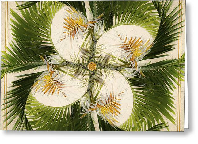 Carribean Greeting Cards - Tropical Design Greeting Card by Carol Leigh