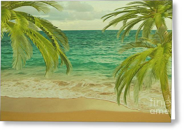 Reception Greeting Cards - Tropical Dreams 2 Greeting Card by Cheryl Young