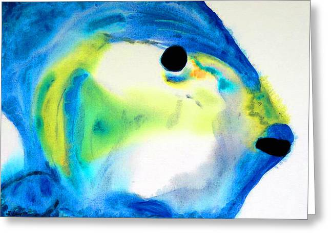 Miami Mixed Media Greeting Cards - Tropical Fish 3 - Abstract Art By Sharon Cummings Greeting Card by Sharon Cummings