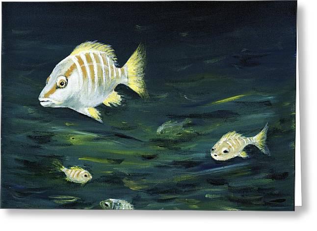 Swarm Greeting Cards - Tropical Fish Greeting Card by Anastasiya Malakhova