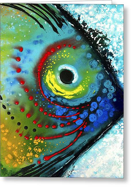 Bright Paintings Greeting Cards - Tropical Fish - Art by Sharon Cummings Greeting Card by Sharon Cummings