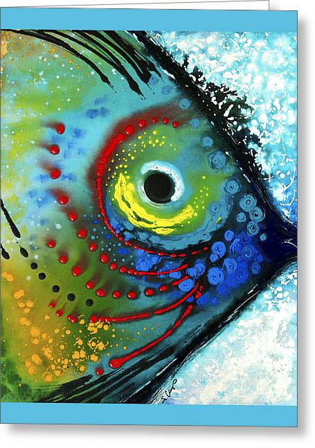 Fishing Art Print Greeting Cards - Tropical Fish - Art by Sharon Cummings Greeting Card by Sharon Cummings